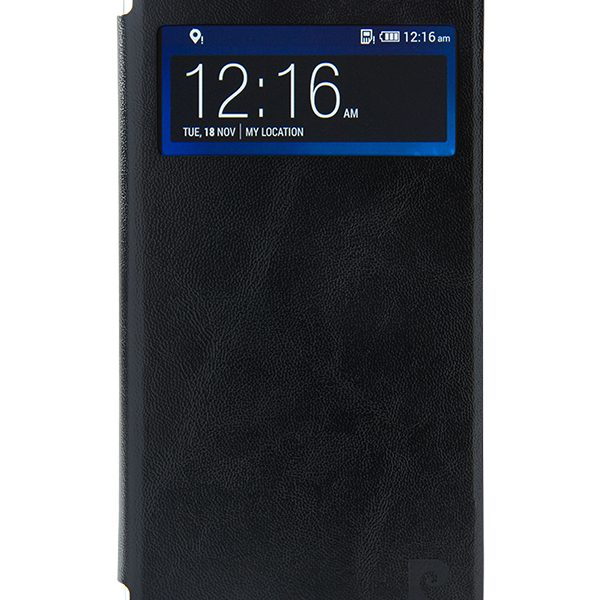 Folio Stand case Pierre Cardin black for HTC Desire 820