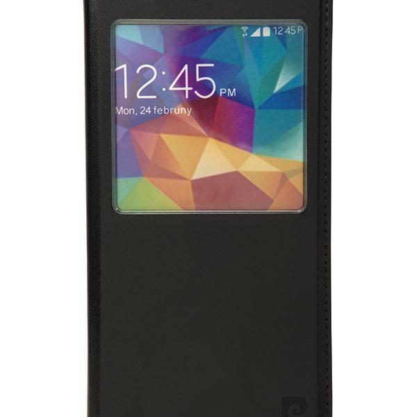 Metallic flip case Pierre Cardin black for Galaxy S5