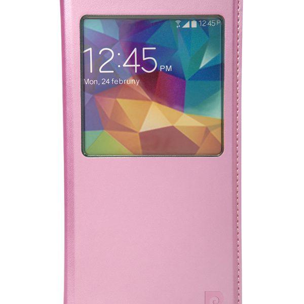Metallic flip case Pierre Cardin pink for Galaxy S5