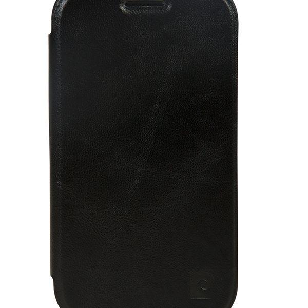 Flip Shell θήκη PIerre Cardin μαύρη για Samsung Galaxy SDuos/Trend
