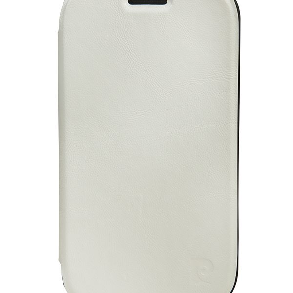 Flip Shell θήκη PIerre Cardin λευκή για Samsung Galaxy S3 mini