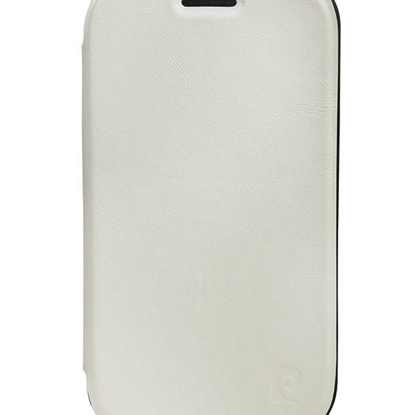 Flip Shell θήκη PIerre Cardin λευκή για Samsung Galaxy SDuos/Trend