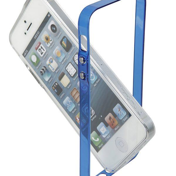 Bumper Vital Pierre Cardin μπλέ & διάφανο για iPhone 5/5s