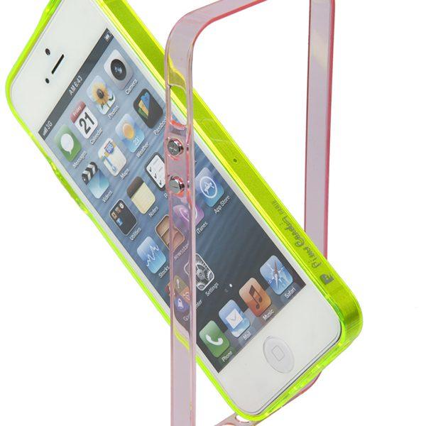 Bumper Vital Pierre Cardin ροζ & κίτρινο για iPhone 5/5s