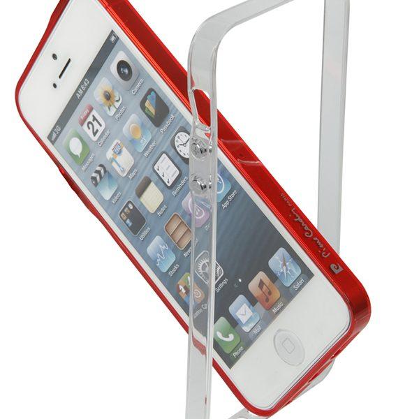 Bumper Vital Pierre Cardin κόκκινο & διάφανο για iPhone 4/4s